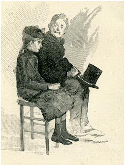 La patiente avec son père en consultation