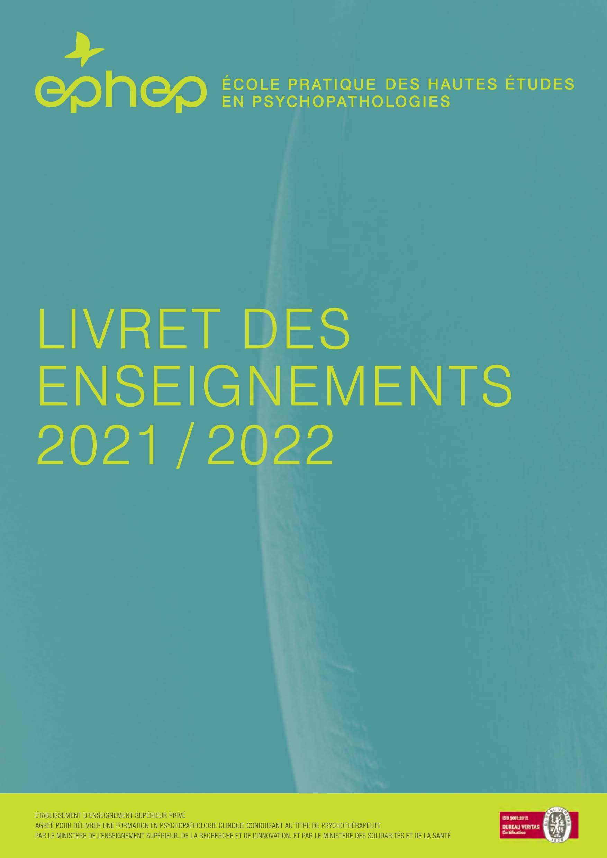 Livret des enseignements EPhEP 2021-22